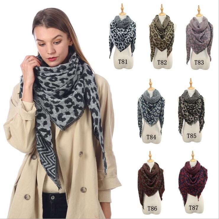 Scarves Leopard Print Shawl Blankets Girls Classic Oversized Tassel Wraps Collar Neck Scarf Fringed Pashmina Hot Winter Neckerchief C6134