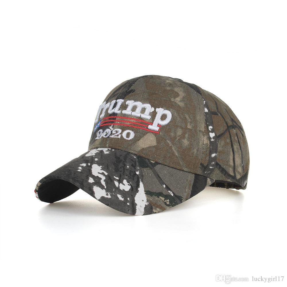 f0d7db55f3f90 Camouflage Donald Trump 2020 Hat Keep America Great Baseball Cap USA ...
