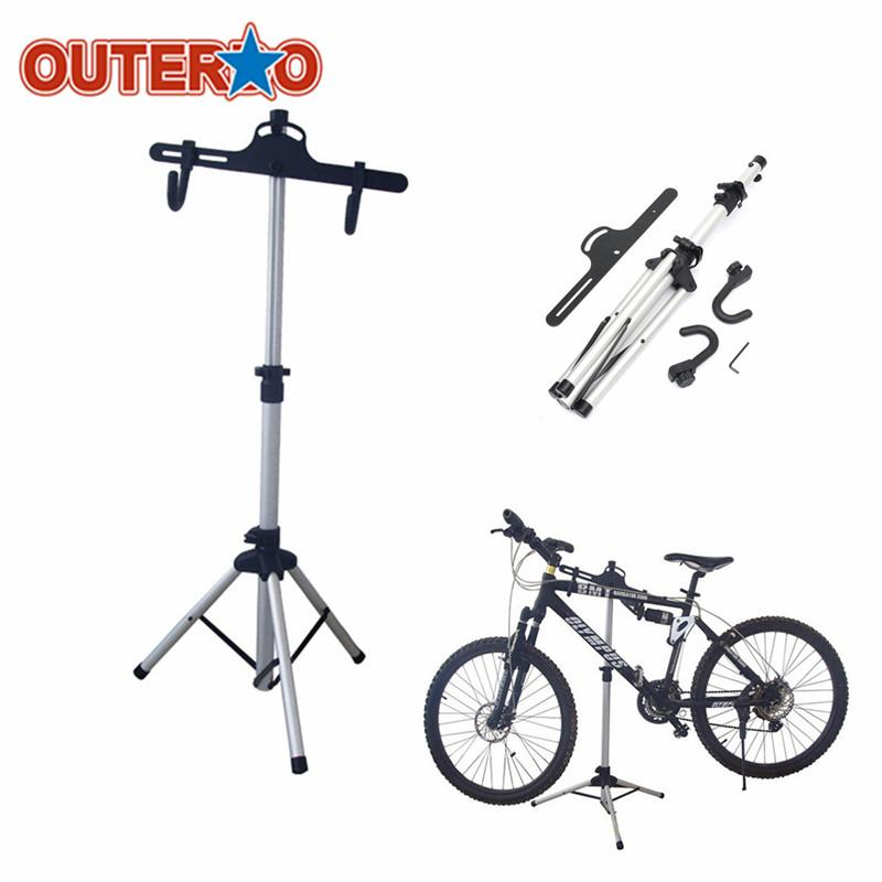 OUTERDO Heavy Aluminium Alloy Bicycle Stand MTB Bike Home Storage Repair Stand Cycling Rack Holder Maintenance Tool