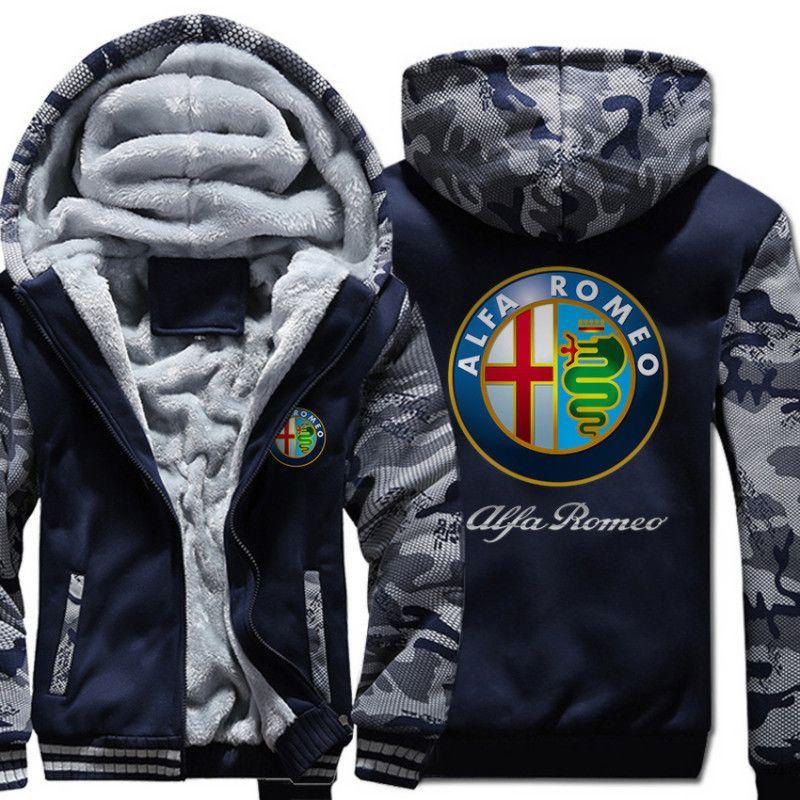 Men S Winter Thick Jacket Alfa Romeo Fashion Camouflage Men Coat