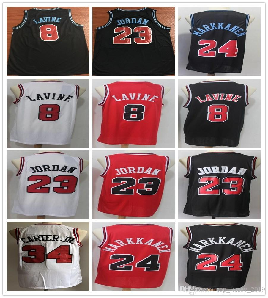 the best attitude 00b5b 671e3 2019 New Black Zach LaVine Jerseys Basketball Stitched 23 Michael JD Jersey  Men Red White Wendell Carter Jr. Lauri Markkanen Shirt