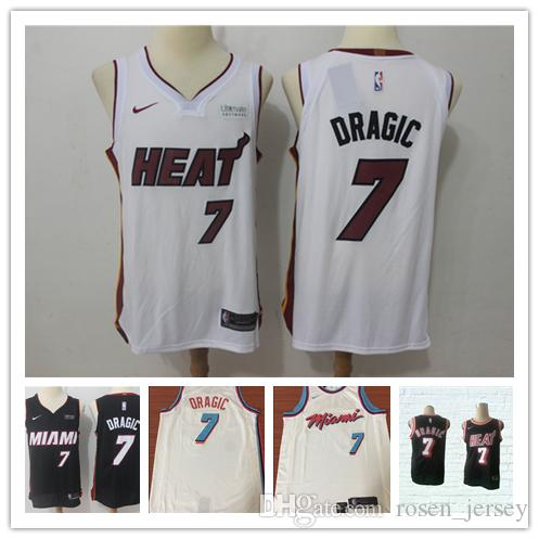 on sale c54f5 4840c 2019 Mens 7 Goran Dragic Miami Heat Basketball Jerseys New The City Edition  White Black Red Goran Dragic Jerseys 100% Stitched Mesh Dense AU