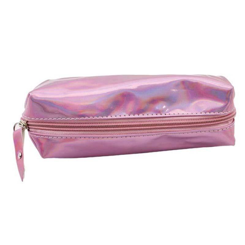 d24f2742eac5 Laser Pink Mini Makeup Bags Women Holographic lady s Cosmetic Bag Toiletry  Organizer Refreshing Makeup Pouch Travel Kit Purse