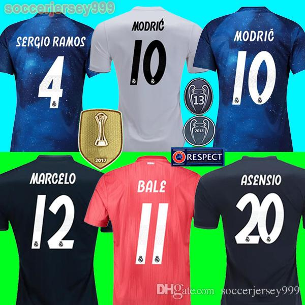 2019 TOP Real Madrid Jerseys Champions EA Sports MARIANO 2019 ISCO Soccer  Jersey SERGIO RAMOS MODRIC BALE Football Shirt 18 19 Camisetas Uniforms From  ... 07a19a90d