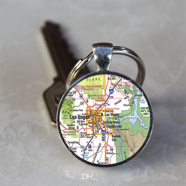 Las Vegas Nevada Map Crystal Gl Dome Alloy Tray Pendant Keychain Keyring on nevada on us map, nevada map with capital, nevada road map, nevada river map, nevada physical geography map, las vegas with key, nevada outlines with label,