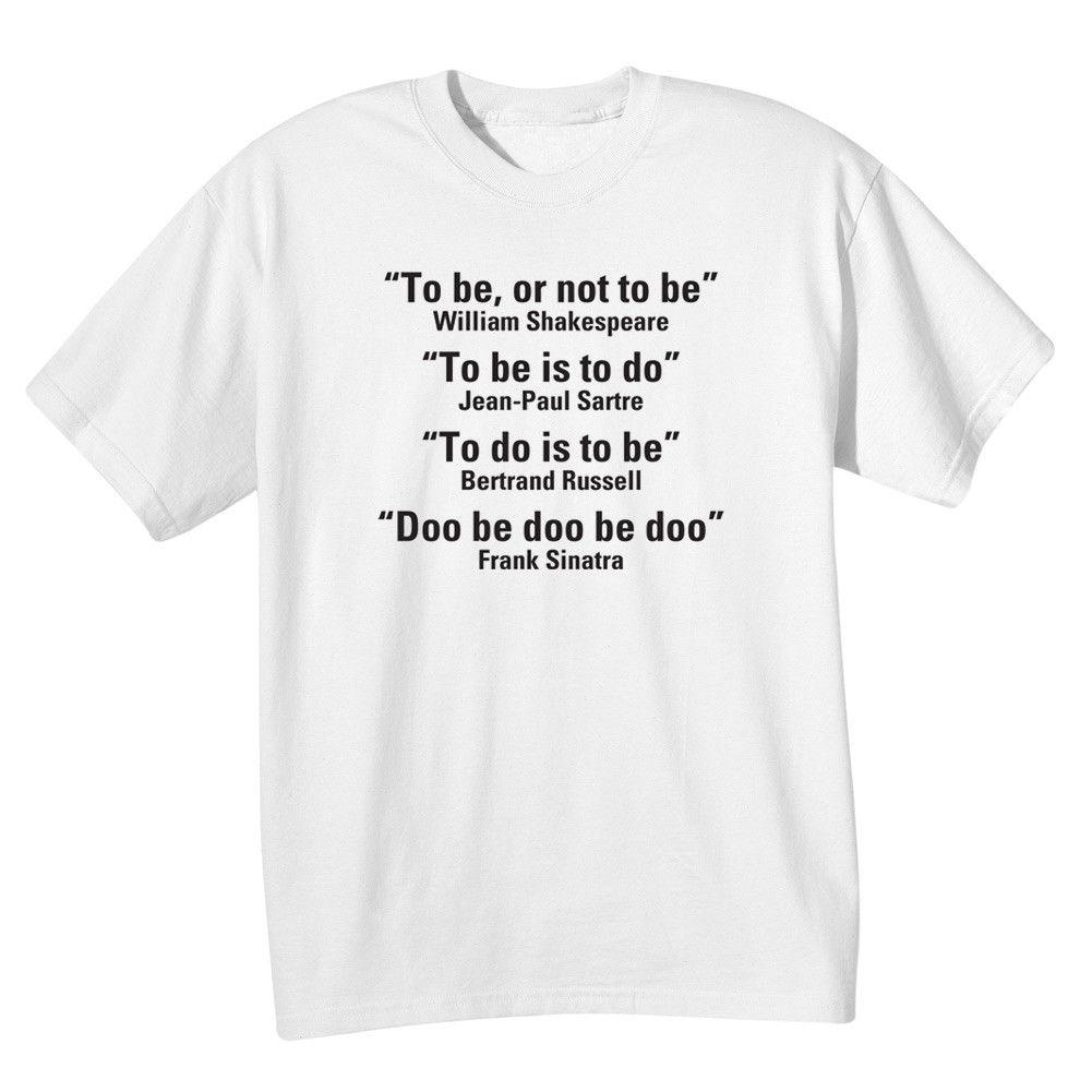 2e1c9bfbb Adult Doo Be Doo Funny Famous Quotes Shirt T Shirt 2018 Short Sleeve O Neck  100% Cotton Print Mens Summer Buy Designer Shirts Great Tees From  Spidermantees, ...