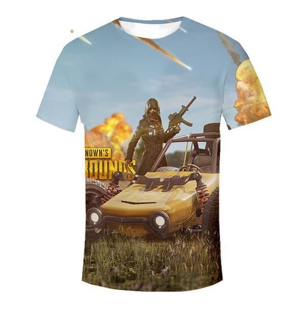plus size 4xl 3D Designer summer t shirts pubg mobile animal wolf Men's Tees polos funny Emoji letter printed Men's t shirts