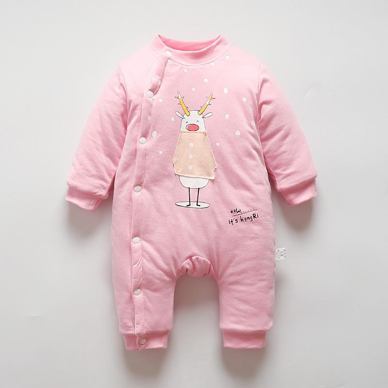 aeff9be8bfc Good Quality Baby Girls Rompers Winter New Cotton Thicken Warm Jumpsuit  Boys Baby Cartoon Clothing Newborn Baby Winter Warm Clothes Online with   44.2 Piece ...