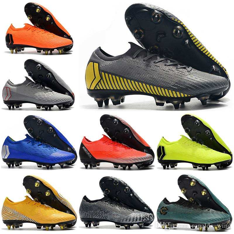 9b2d43db3 Mens Low Ankle Football Boots Always Forward Mercurial Vapors XII VII 360  Elite SG Soccer Shoes CR7 Superfly VI Neymar NJR Soccer Cleats Skechers  Boots Mid ...