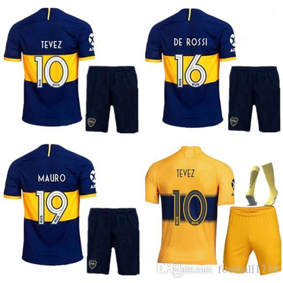 the best attitude 000a2 39f61 kits de hombre 2019 2020 kits de Boca Juniors Jersey 19 20 kit de camisetas  de fútbol de Boca Juniors DE ROSSI TEVEZ PAVON GAGO camisetas de fútbol