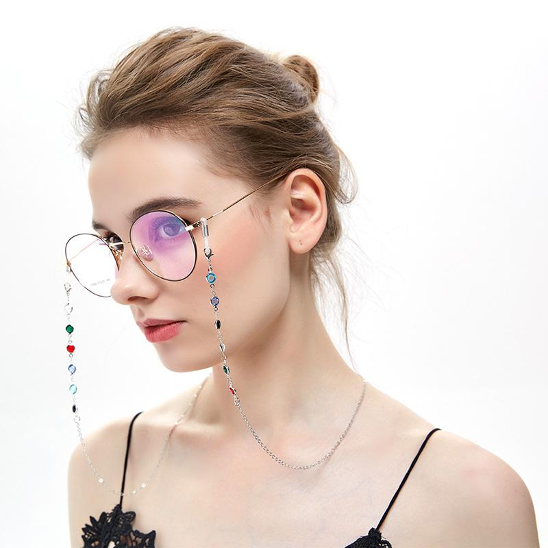 3e4c28519d15 2019 Eyeglass Chains Reading Glasses Rope Fashion Colorful Rhinestone  Silicone Anti Slip Eyewear Chains Glasses Accessories From Fotiaoqia