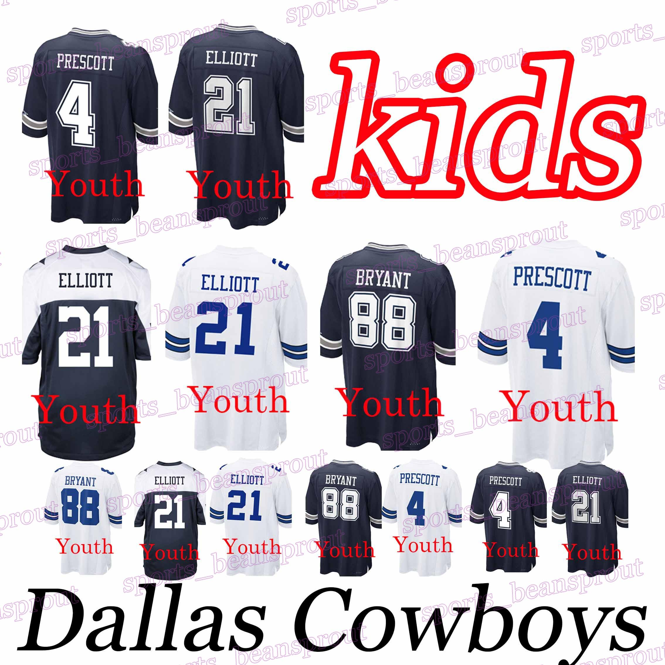 2b49a5adf11 ezekiel elliott t shirt youth 2019 YOUTH Dallas Cowboys JERSEYS 21 ...