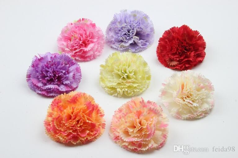 Hand-simulated silk flower carnation, lilac flower head DIY garment, hat and shoes decoration Y003