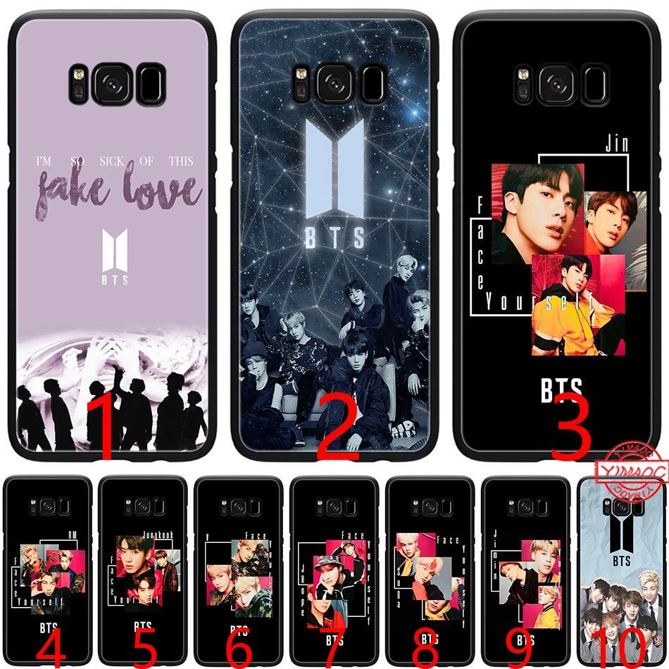 sale retailer 54847 4dce8 Bangtan Boys Face Yourself Love BTS Soft Silicone Black TPU Phone Case for  Samsung A3 A5 2016 2017 A6 Plus 2018 Cover