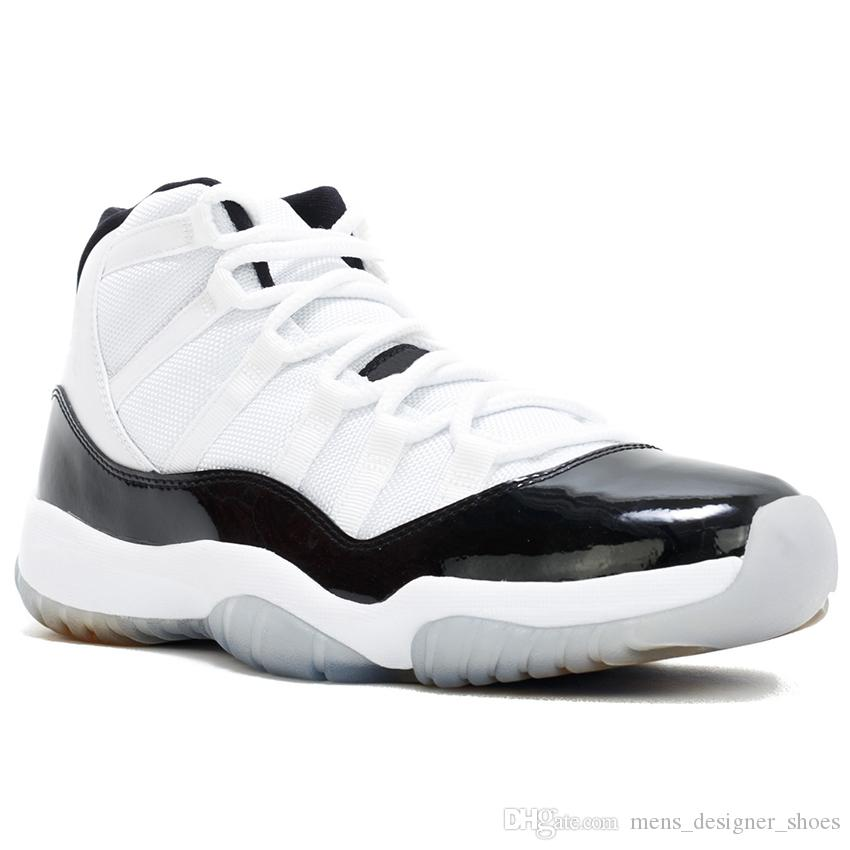 22aae8b8efc3cf 2019 Concord 45 11S XI Platinum Tint Men Basketball Shoes 11 Bred Space Jam  Cap And Gown PRM Women Sports Sneakers US 5.5 13 From Mens designer shoes