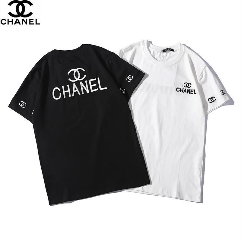 15dd0551d52 Chanel Gucci Summer Street Wear Europe Paris Fashion Men High Quality Big  Broken Hole Cotton Tshirt Casual Women Tee T Shirt S 2XL Family T Shirts  Printed ...