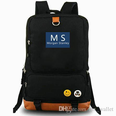 MS backpack Morgan Stanley daypack Logo bank best laptop schoolbag Leisure  rucksack Sport school bag Outdoor day pack