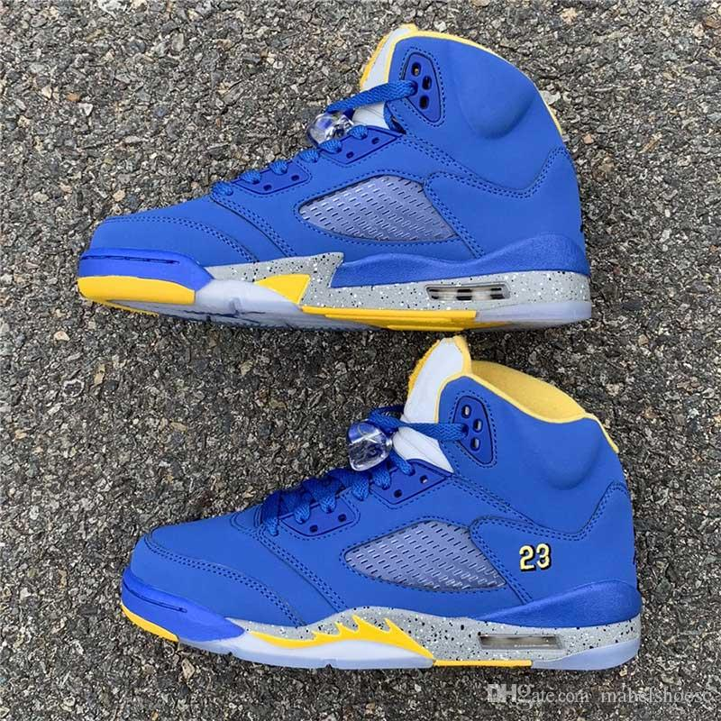 c53894f89887a3 Newest Designer 5 Laney JSP Basketball Shoes 2019 New Arrival 5s Varsity  Royal Blue Brand Women Mens Trainers Chaussure Basketball Sneakers Buy Shoes  Online ...