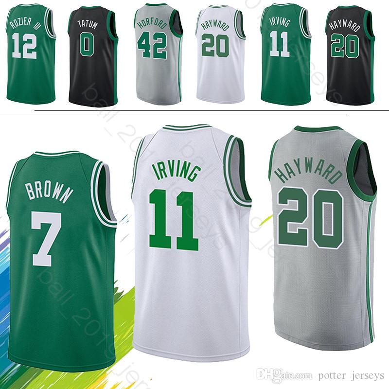best sneakers 553d1 5c2e0 Boston jerseys Celtic 0 Tatum 11 Irving jerseys 7 Brown 20 Hayward 33 Bird  Maillots de basketball