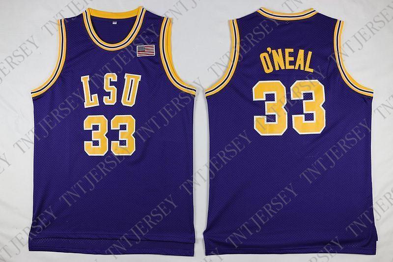 5f8f516c4a4d Cheap Custom ONeal LSU Tigers Basketball  33 Vintage Jersey Purple ...