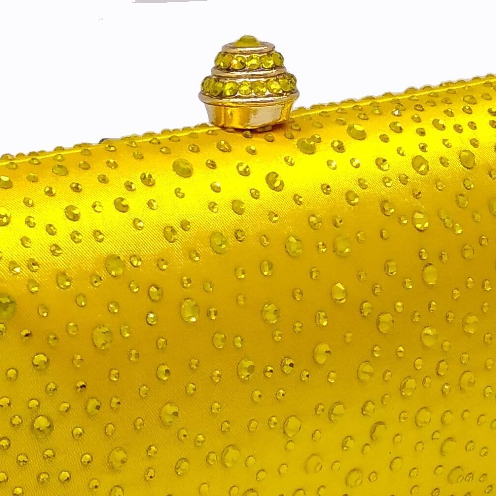 Сверкающие желтые хрустальные вечерние клатчи Женщины со стразами Свадебные кошельки Свадебный выпускной вечер Клатч Сумки Сумки на ремне