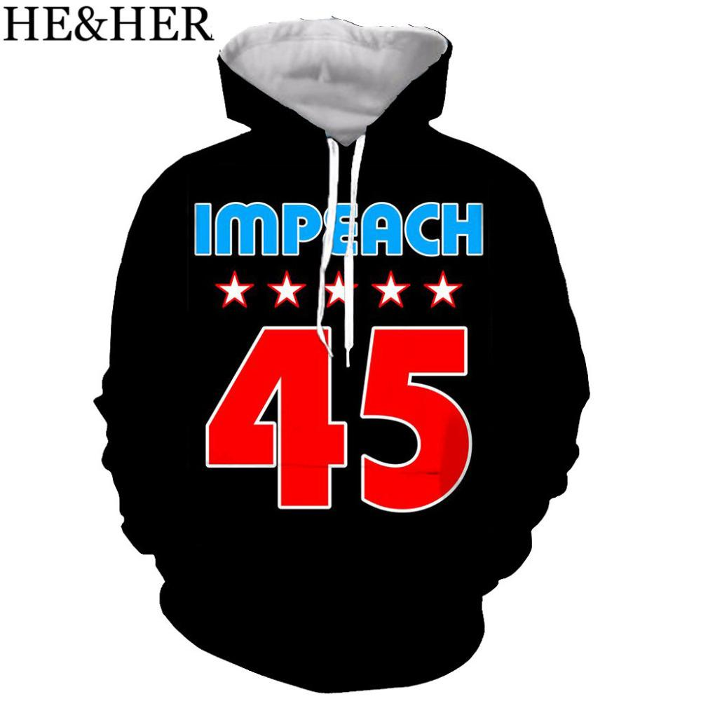 45 Anti Trump New design hoodie men/women funny 3Dprinted hoodies sweatshirts casual Harajuku style streetwear tops
