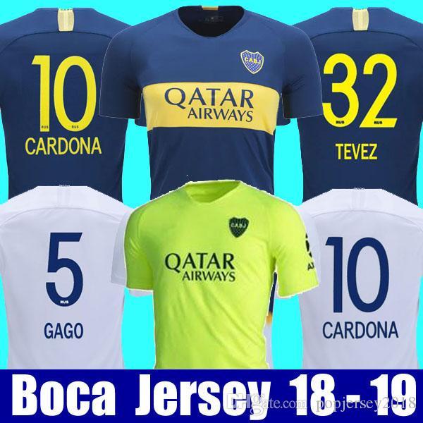 buy online 4c601 eebc5 Thailand 2018 2019 Boca Juniors Soccer Jerseys 18 19 GAGO TEVEZ CARDONA  BENEDETTO Football shirt Boca Junior PAVON camisetas de futbol