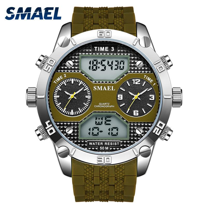Capable New Shock Men Waterproof Sport Watch Quartz Digital Watch Luxury Brand Military Wristwatch For Male Sports Watch Keep You Fit All The Time Back To Search Resultswatches