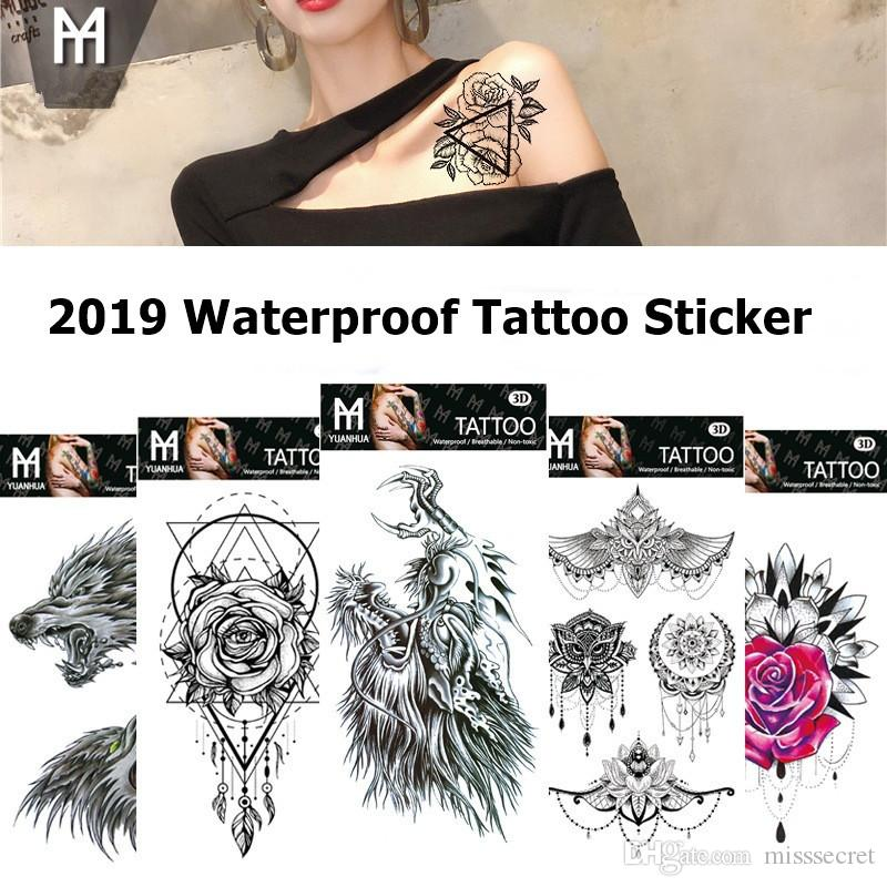 a736fbff7 Waterproof Temporary Tattoo Stickers Totem Flower Fake Tattoo Flash Tattoo  Body Art Hand Foot For Girl Women Men Star Temporary Tattoos Superman  Temporary ...