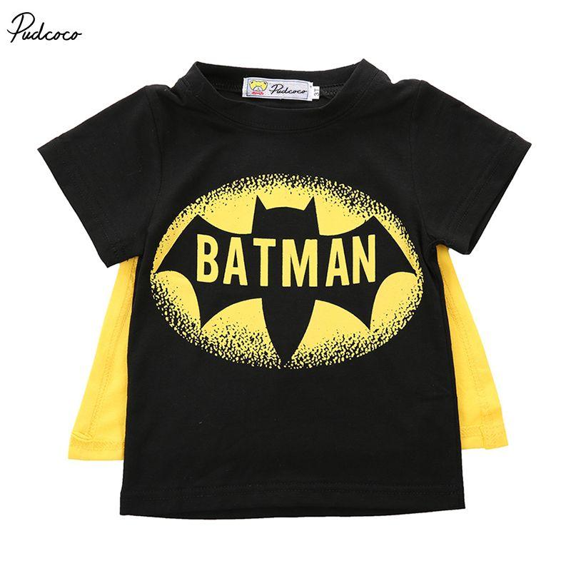 10e79a51e Compre 2017 Niños Bebés Camiseta Superman Batman Camiseta Niños 3D ...