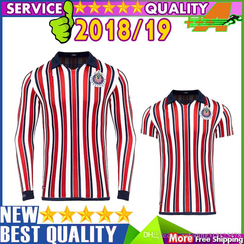 buy online d88f9 84e61 Free shipping Chivas de Guadalajara 2018 Club World Cup jersey new  realeased chivas full long sleeves shirts LS soccer jersey