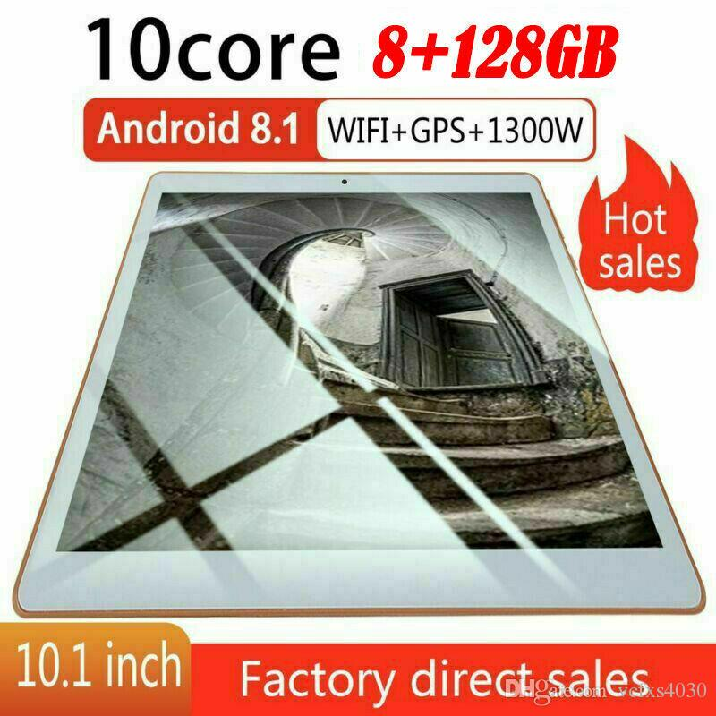 10.1'' Android 8.1 Tablet PC 8G+128G Ten-Core Dual SIM &Camera Wifi Phablet GPS