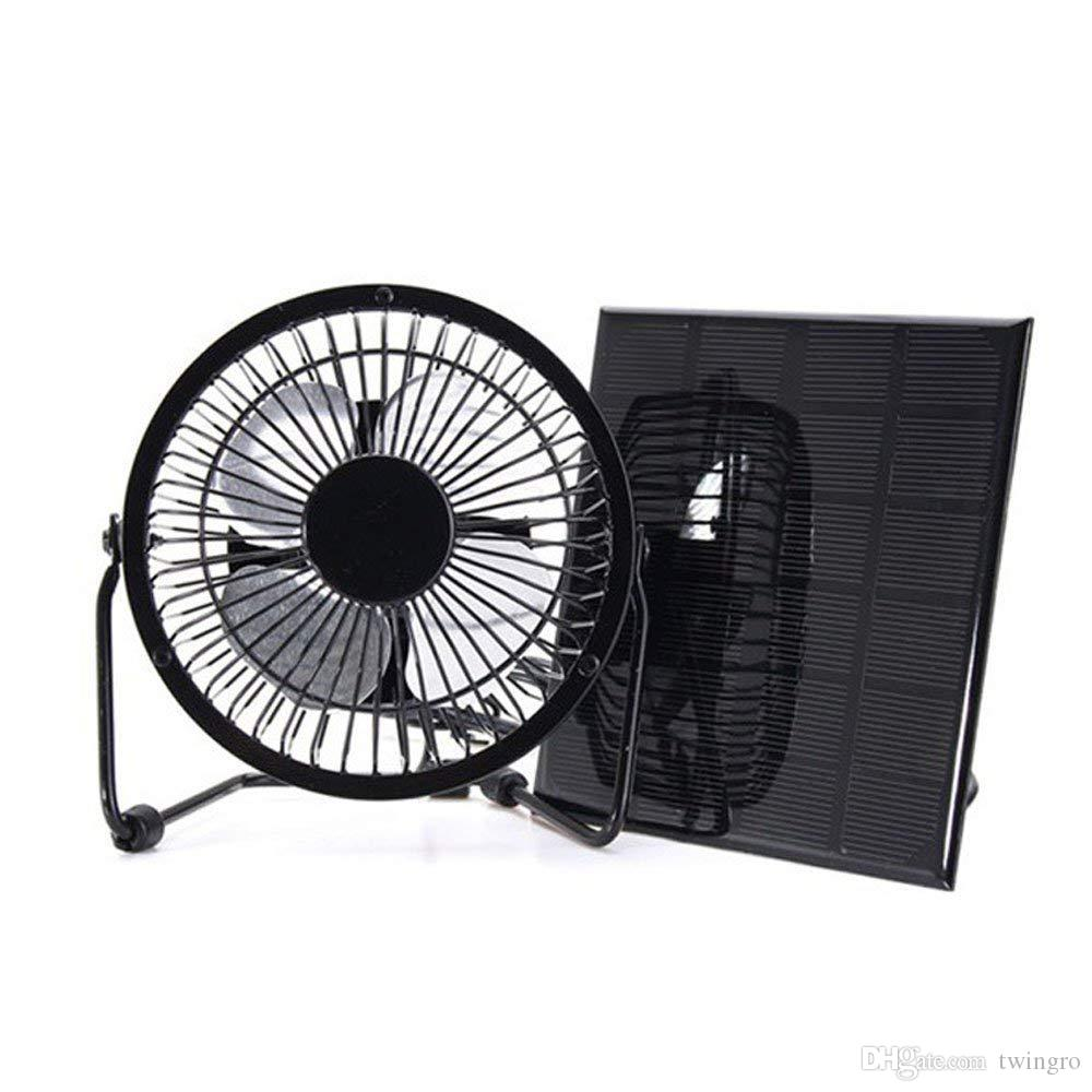 Solar Powered Fan Free Energy Power Ventilator for Greenhouse Motorhome  House Chicken House Outdoor Home Cooling RV Car Gazebo