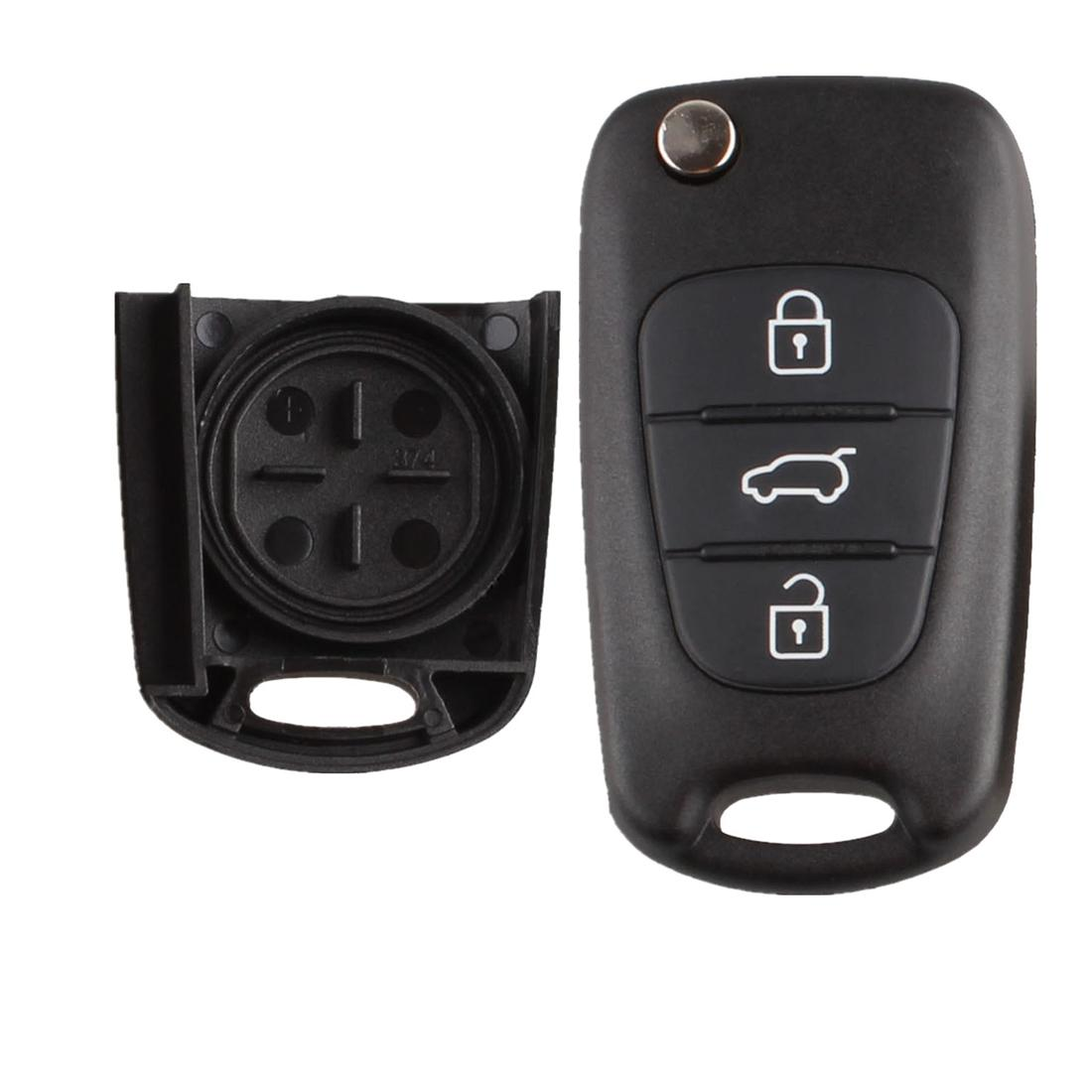 Dewtreetali Uncut Blade 3 Buttons Remote Folding Fild Key Shell Car-Styling Fob Cover Case For Hyundai I30 IX35 Kia K2 K5 car