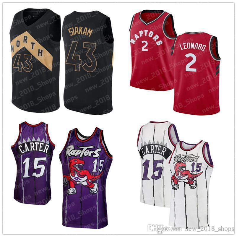best website 4e843 9b26e 15 Carter jersey Vince Pascal 43 Siakam Raptors baseball Kawhi 2 Leonard  Kyle 7 Lowry Toronto