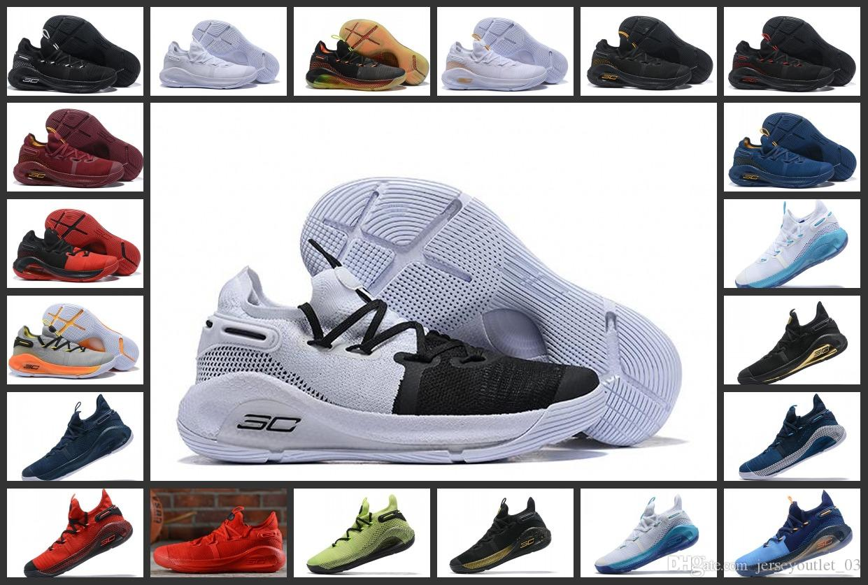 sports shoes b2ee8 83415 2019 New Curry 6 basketball Mens shoes Black Green Red Rage Christmas Blue  Stephen Currys VI Sports Sneakers shoe