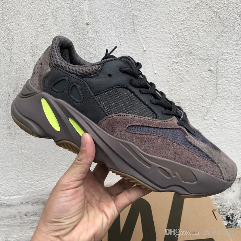 promo code a99ee a8b5a With Box 2019 Wave Runner 700 V2 Static Mauve 3M Material Men Women Kanye  West Running Shoes Sport Sneakers Size US5-13
