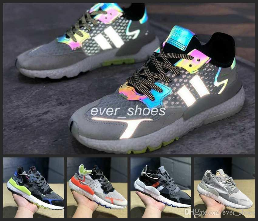 reputable site 1a5b8 d0ab2 Acheter 2019 New Adidas Nite Jogger Running Shoes Fashion Women Mens  Originals 3M Popcorn Designer Shoes Sports Casual Chameleon Outdoors  Athletic Sneakers ...