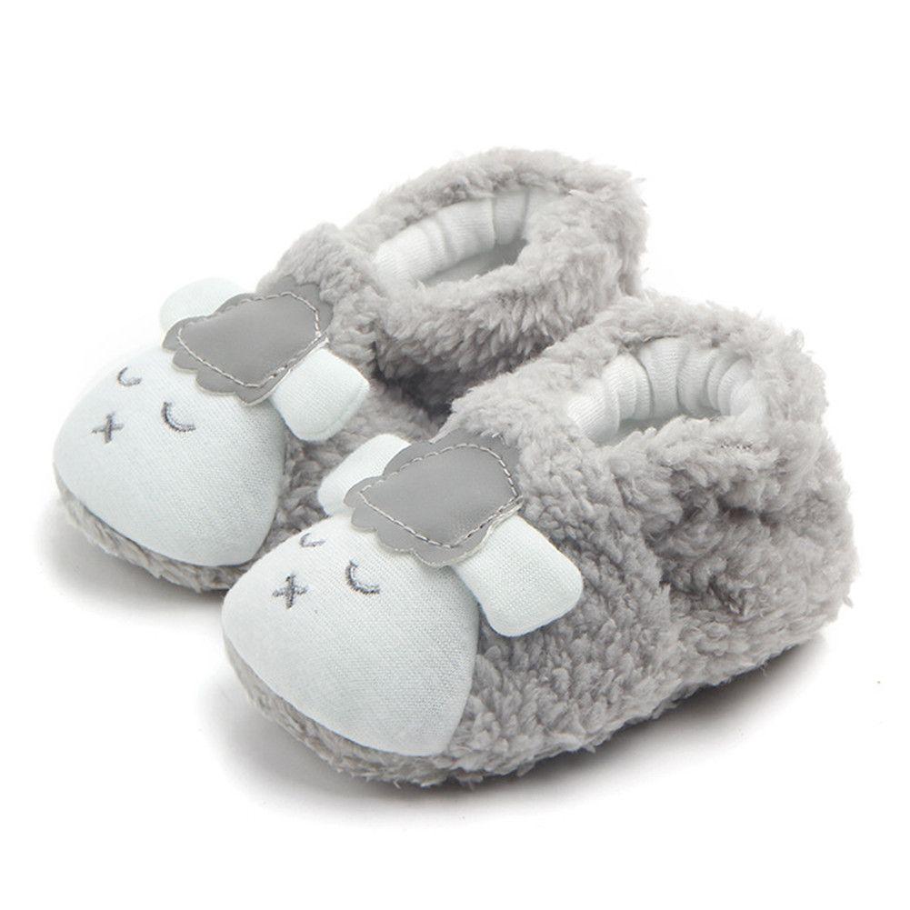 prewalker Bebé infantil bonito bowknot neve Botas Crib Shoes Criança lã quente Botas