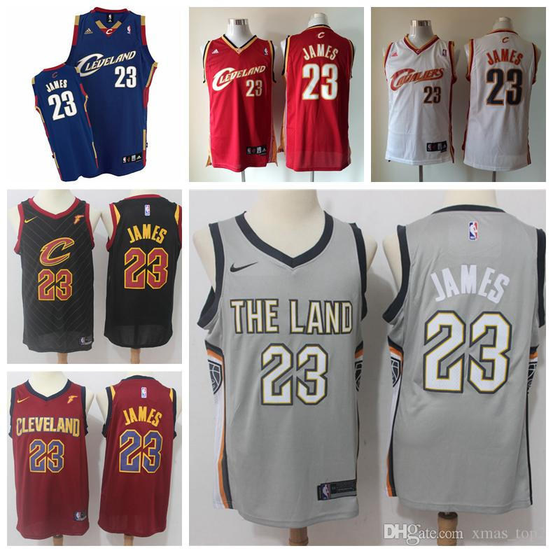half off 0802b 3d176 2019 New Mens Cavaliers 23 LeBron James Basketball Jersey New City LeBron  James Jerseys Retro Cavaliers Basketball Jerseys