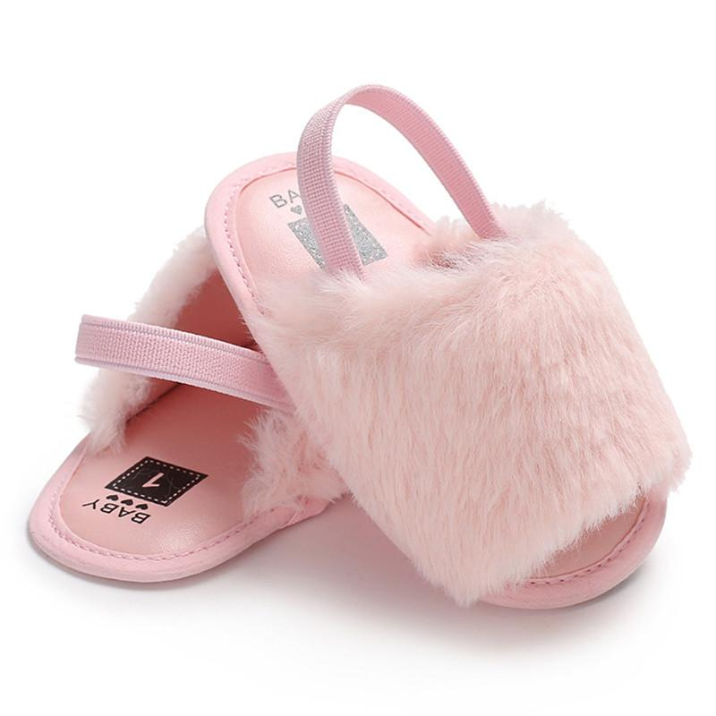 c5d8908d2 Newborn Infant Princess Baby Girl Fur Sandals Soft Sole Flat Shoes Casual  Fashion Summer Sandals For Kids Shoes For Boys And Girls Cool Shoes For  Toddlers ...