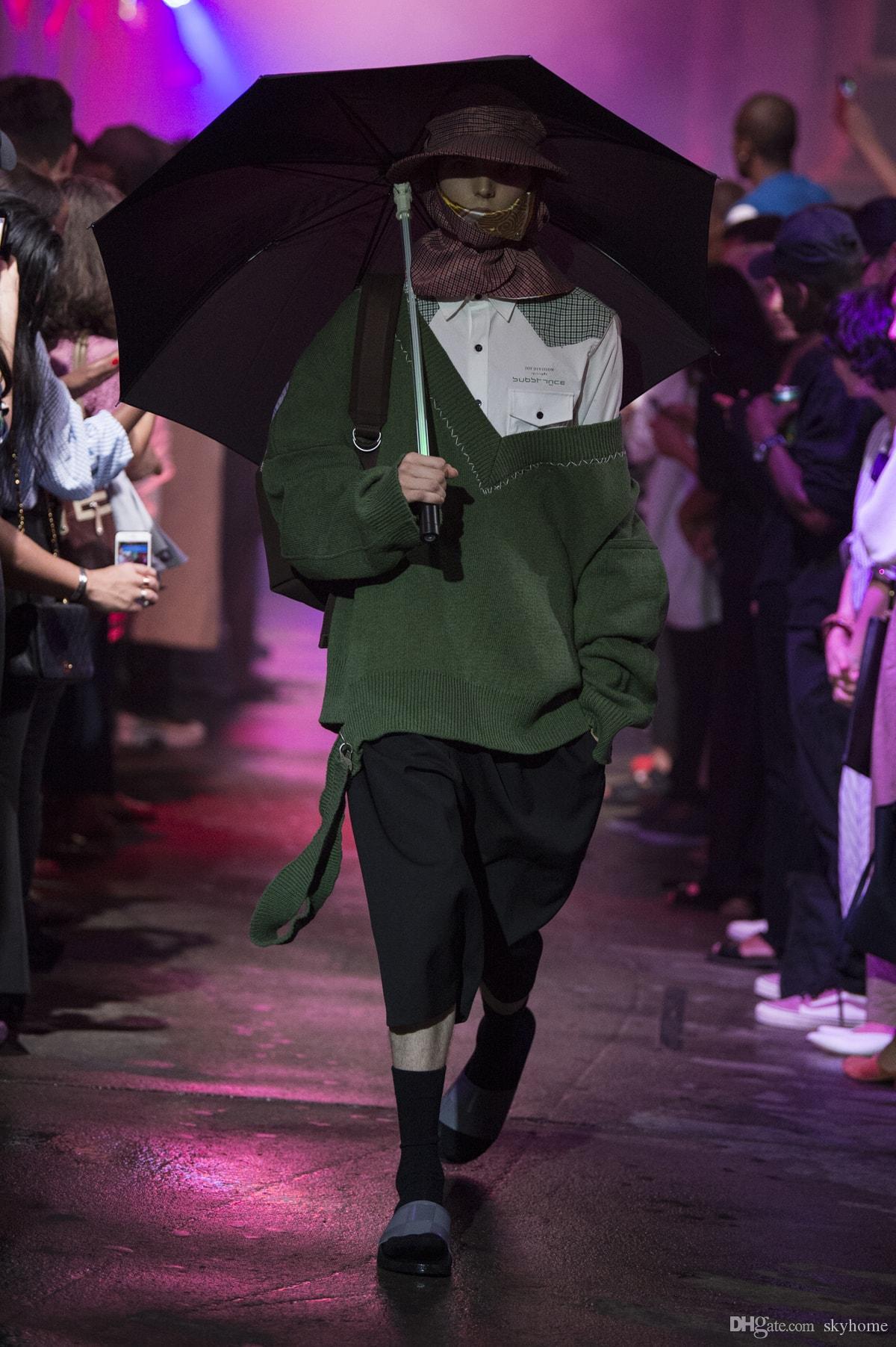 2019 2018 New Raf Simons Oversized Sweater Hoodies Men Women Unisexual  Pocket Knit Shirt Fashion Black Long Sleeve 888 From Skyhome 7bda55870