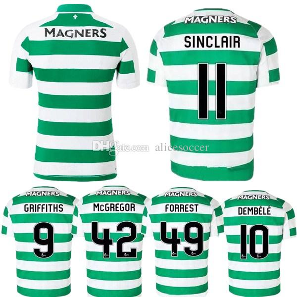 classic fit 716aa 48bdb New 2019 2020 Celtic soccer jerseys 19 20 home TIERNEY MCGREGOR BENKOVIC  WEAH BURKE EDOUARD CHRISTIE GRIFFITHS away black football shirts