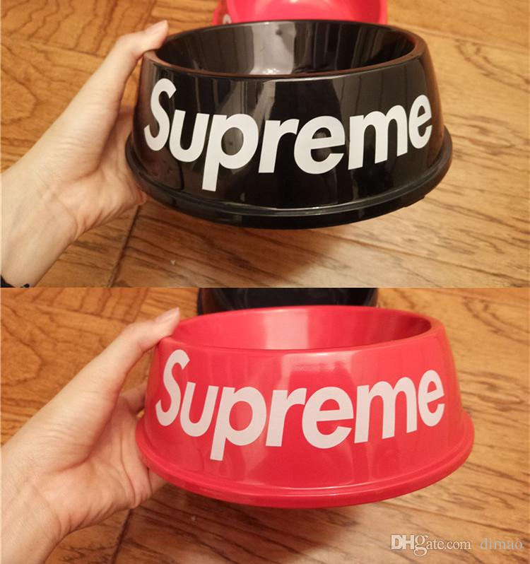 1a434cae503 2019 Creative Dog Bowl Plastic Dog Bowl Pet Popular Logo Bowl Cat Universal  Drinking Bowls Black Red Color From Dimao