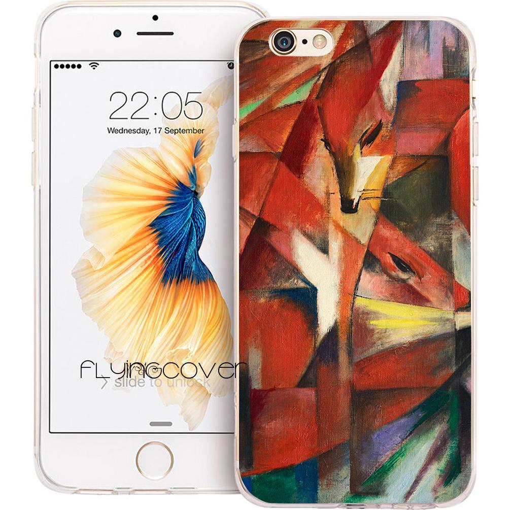 e05c0bc104a Fundas Franz Marc Foxes Phone Cases For IPhone XS Max XR 7 8 Plus 5S 5 SE 6  6S Plus 5C 4S 4 IPod Touch 6 Clear TPU Silicone Cover.