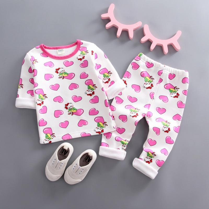 796697c97 Good Quality Kids Cotton Clothes Girl Pajamas Set Cartoon Print ...