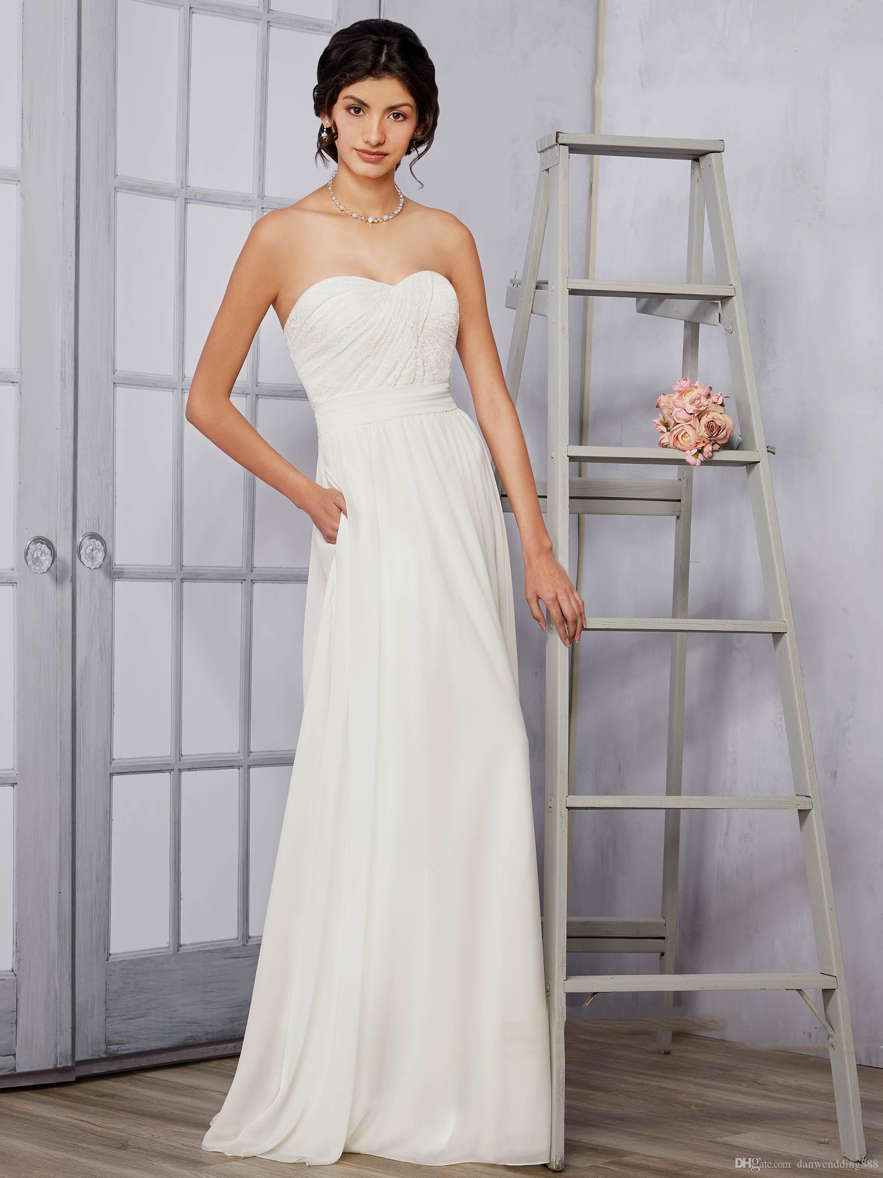 White Dress Strapless Sheath Gown