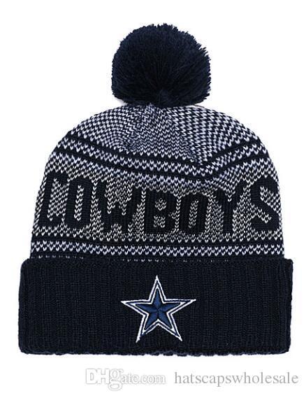 8e965a5d722 2019 Pompom Winter Hat Men S Cowboys Skullies Beanies Women Warm Cap ...