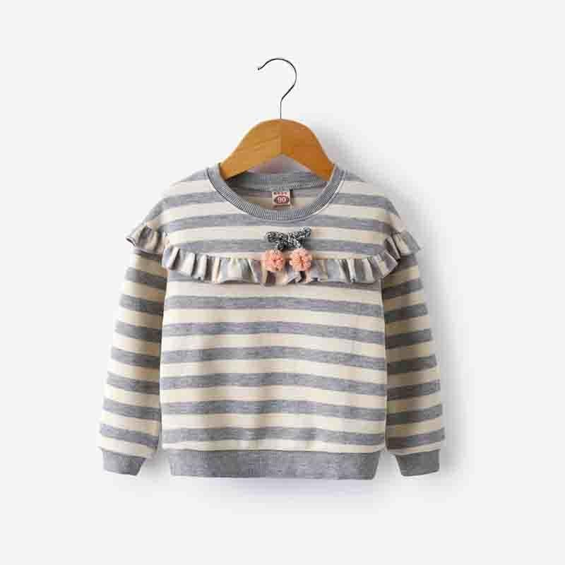 14ebcd684350 Good Quality 2019 Baby Children Clothing Girls Fashion Stripe Knitted  Sweater Kids Spring Autumn Cotton Outer Wear Girl Pullover Girls Sweater  Knitting ...