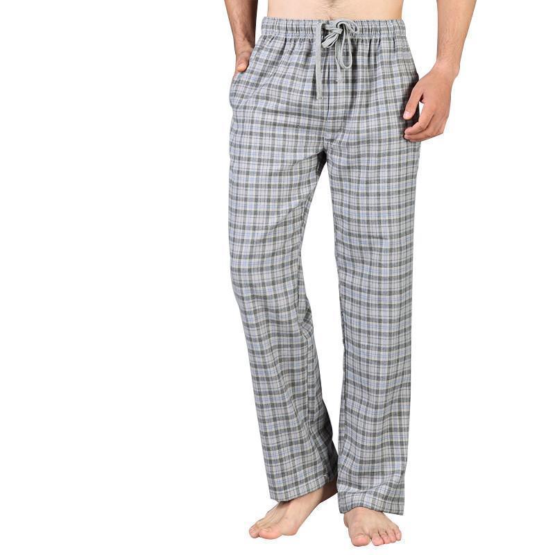833bd526066cc0 2019 Cotton Soft Pants Plus Size Cotton Pajamas Pants Men High Quality Men  Sleep Bottoms Microfiber Plaid From Losangelesd, $50.87 | DHgate.Com